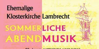 Sommerliche Abendmusik 2021 (Quelle: Prot. Pfarramt Lambrecht-Lindenberg)