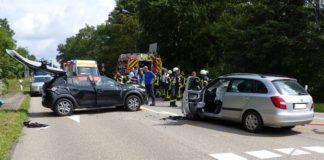 Verkehrsunfall auf der Kreisstraße 1 (Foto: Feuerwehr Neustadt)