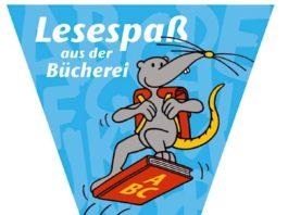 """""""Leslie"""" die Leseratte (Quelle: Stadtbücherei Lambrecht)"""