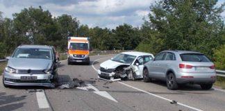 Die Unfallstelle auf der B38 (Foto: Polizei RLP)