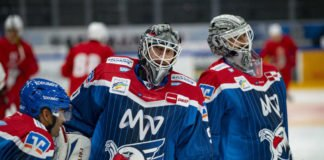 Vertragsverlängerungen von Dennis Endras und Felix Brückmann (Foto: AS Sportfoto / Sörli Binder)