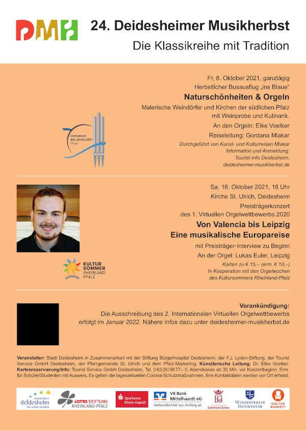 Plakat 24. Deidesheimer Musikherbst