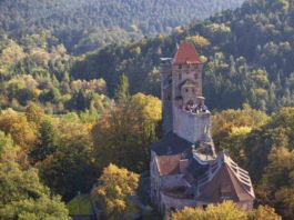 Burg Berwartstein im Herbst (Foto: Kurt Groos)