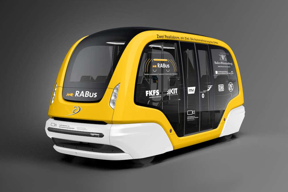 RABus-Shuttle (Quelle: FKFS Forschungsinstitut für Kraftfahrwesen und Fahrzeugmotoren Stuttgart)