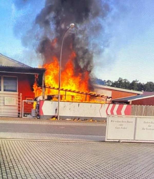 Brandstelle (Foto: Polizei RLP)