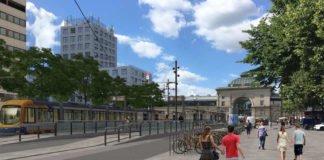 Visualisierung der Bus- und Stadtbahnhaltestelle MA Hauptbahnhof am Bahnhofsvorplatz (Foto: rnv)
